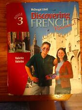 Hardcover Discovering French Rouge 3 High School textbook language