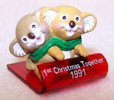 1991 Hallmark New Christmas 1st Together Koala Bears Merry Miniature Qfm1799