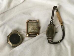 Great Art Deco & Vintage GF Watch Lot Gruen Veri-Thin