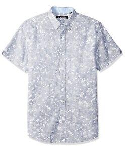 Ben Sherman Men's Floral Print Short Sleeve Shirt, M, MSRP $59