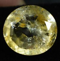 9.80 Ct Natural Brazilian Yellow Topaz Untreated Certified Oval Loose Gemstone