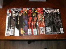 IdentityCrisis 1,1,2,2,3,4,5,6,7 of 7 2004/05 near mint DC comic lot
