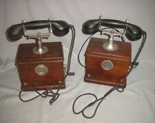 2 alte Telefon e mit Kurbel  T. A. P. 1912   Post