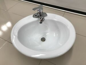 Vitreous China Above Counter Basin with mixer 500 x 450 x 200 only 8 available