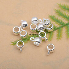 10/30/50Pcs Silver/Gold Plated Tube Charm Connector Bail Jewelry Findings DK228