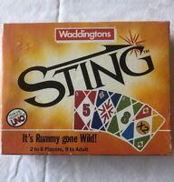 Rare 1986 Waddingtons Sting Retro Vintage Card Strategy Game Boxed Set 43244