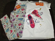 Gymboree Cosmic Club sparkle hi-top sneakers top & doodle leggings NWT 14 girls'