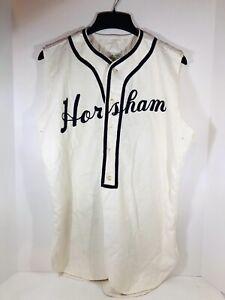 Vintage Oliver Bros Dodge Davis Flannel Horsham PA Baseball Jersey Shirt