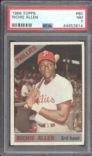 1966 Topps #80 Richie Allen - PSA NM 7 - Phillies - CENTERED