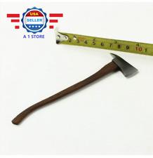 "1/6 Scale Metal Fireman Axe Wooden Handle Axe for 12"" ACTION Figure"