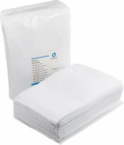 Einmalwaschlappen Premium Molton Weiß | Einwegwaschhandschuh | saugfähig Soft