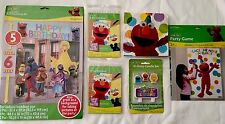 ELMO SESAME STREET BIRTHDAY PARTY BUNDLE GAME CANDLE INVITE SCENE SETTER NAPKINS