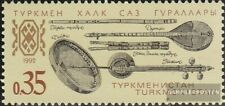 Turkmenistan 10 (compleet.Kwestie.) MNH 1992 Muziekinstrumenten