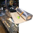 "60""x 39"" Sound Deadener Heat Insulation Barrier Thermal Mat Adhesive Foil Layer"