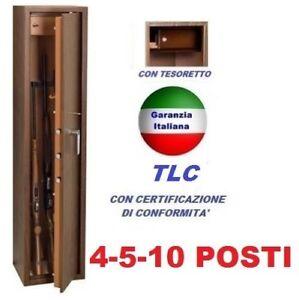 FUCILIERA 4-5-10 POSTI BOX ARMADIO CASSAFORTE BLINDATO PORTAFUCILI FUCILI CACCIA