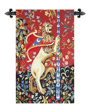 Medieval Lion II European Tapestry Wall Hanging