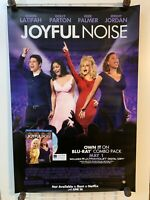 JOYFUL NOISE LARGE MOVIE POSTER 27x41 New Video Store DOLLY PARTON QUEEN LATIFA