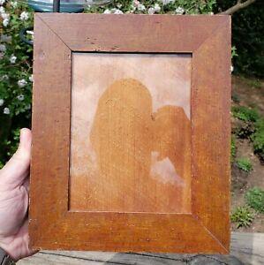 c1840 Outstanding American Birdseye Maple Grain Painted Miniature Folk Art Frame