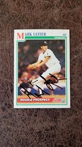 1991 Score Mark Leiter rookie #727 - New York Yankees - Autographed!