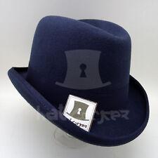 CLASSIC Wool Felt Men Homburg Top Hat Gentlemen Fedora Formal Party | Navy | M L