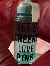 Lets Cheers Love Pink Water Bottle Teal Color