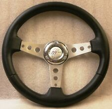 360mm Sport Steering Wheel 6x70mm PCD w/Horn Button brushed aluminium spokes