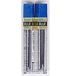 2 Tubes PENTEL Super Hi-Polymer Lead 0.5 mm BLUE