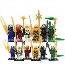 6 X MiniFigures Ninjago Golden Ninja Lloyd Cole Kai Skylor Jay Blocks Toys Z011
