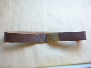 Brown Leather Czechoslovakian Belt And Buckle
