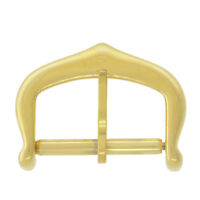 12 - 16 mm Gold-Tone Plated Stainless Steel Tang Watch Buckle