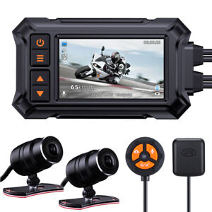 Motorcycle Dash Camera A12 Waterproof GPS WIFI Front+Rear 1080P 148°Wide Angle