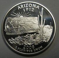 2008-S Arizona Gem DCAM Silver Proof State Quarter Stunning Coin