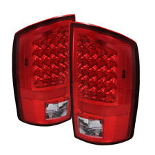 Jdragon Fit Dodge 2002-2006 Ram 1500/2500/3500 Red Clear LED Tail Lights LH & RH