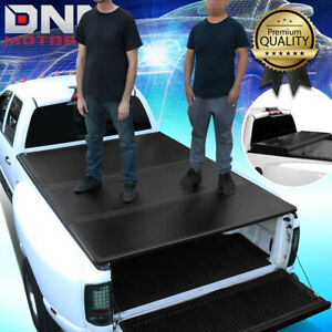 FOR 1982-1993 CHEVY S10/GMC S15 6' BED TRUCK HARD SOLID TRI-FOLD TONNEAU COVER