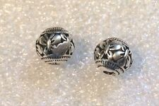 THAI .925 STERLING SILVER VINTAGE 8mm ROUND CARVED BUTTERFLY BEAD #833 - (1)