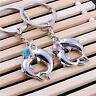1Pair Hot Metal Dolphin Key Ring Keyfob Couples Romantic Keychain Lover Gift HI