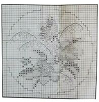 Mystery Counted Cross Stitch Kit, NO FINISHED PHOTO Wedgewood Lace 9103 w/ Hoop