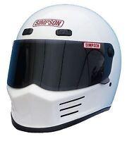 SIMPSON STREET BANDIT Casque Snell M2015 blanc brillant L 60cm 7 1/2