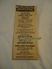Webb Pierce  Loretta Lynn Williams Grove Park Speedway concert 1967 newsprint ad