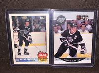 1990 Topps Team Scoring Leader Wayne Gretzky Los Angeles Kings NHL Pro Set