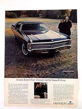 1969 Chrysler Imperial Vintage Automobile Print Ad