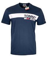 Tommy Hilfiger Men's Crew Neck Cotton S/S T-Shirt - Regular Fit - Dark Blue