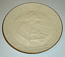 1993 Lenox Mother and Child Children's Hour Bedtime Story Plate White Bisque