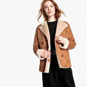 La Redoute faux fur lined jacket Coat size 6, would fit size 8 brown