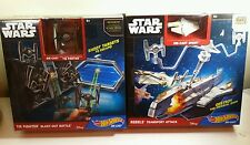 2 x Hot Wheels SPECIAL FORCES TIE FIGHTER + rebels transport attack