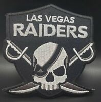 Las Vegas Raiders~Skull~Embroidered Iron On Patch~Free Shipping from the USA~