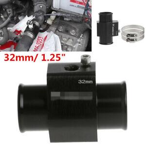 Universal 32mm Water Temp Gauge Joint Pipe Sensor Radiator Hose Adapter Black