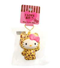 HELLO KITTY Leopard Kawaii RARE Squishy Sanrio Keychain Charm Cute Squeeze Toy
