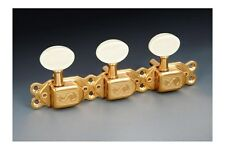 NEW - Genuine Schaller Selmer Style Classic Deluxe 3x3 Tuning Keys - GOLD