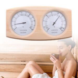 2 IN 1 Wood Sauna Thermometer Fahrenheit Hygrometer Indoor Temperature Measuring